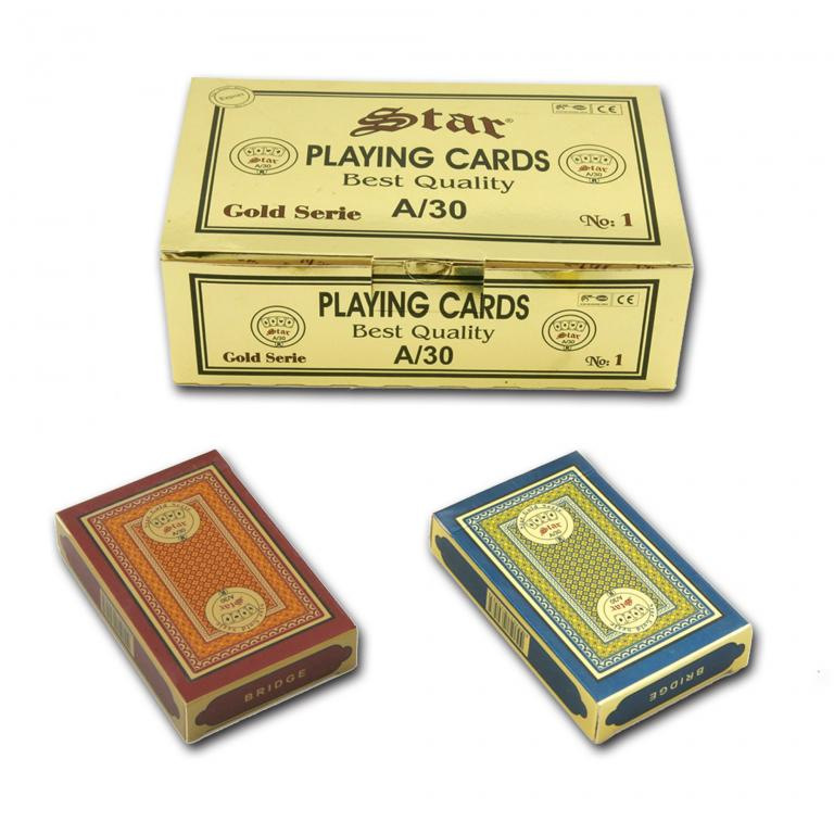 Star Gold Plastic Series No:1 Playing Cards